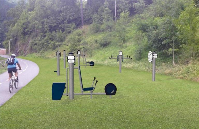 Se instalarán máquinas de ejercicio físico en el bidegorri