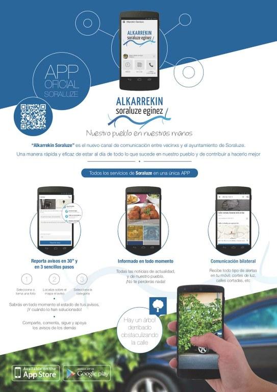 La aplicación móvil de Soraluze para la participación e interactividad en marcha