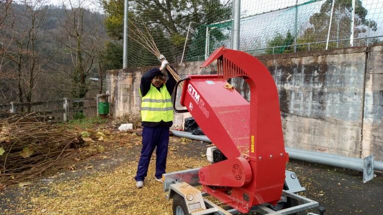 Maquina trituradora de ramas
