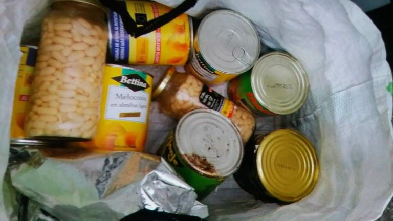 Aparición de alimentos en la basura