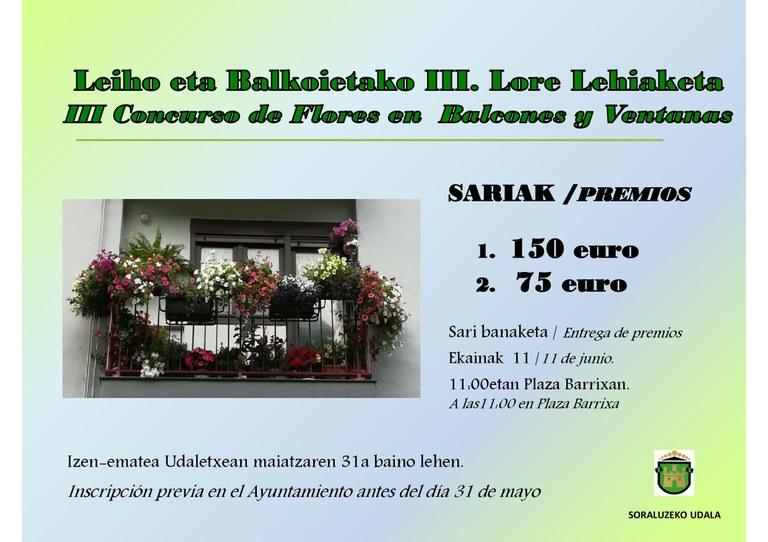 Concurso de flores en balcones y ventanas
