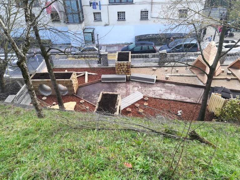 Inauguración del parque infantil de la estación
