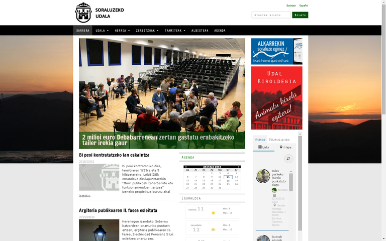 Presentada la nueva web del Ayuntamiento de Soraluze