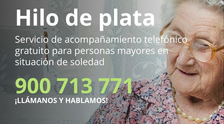 Teléfono de acompañamiento para mayores