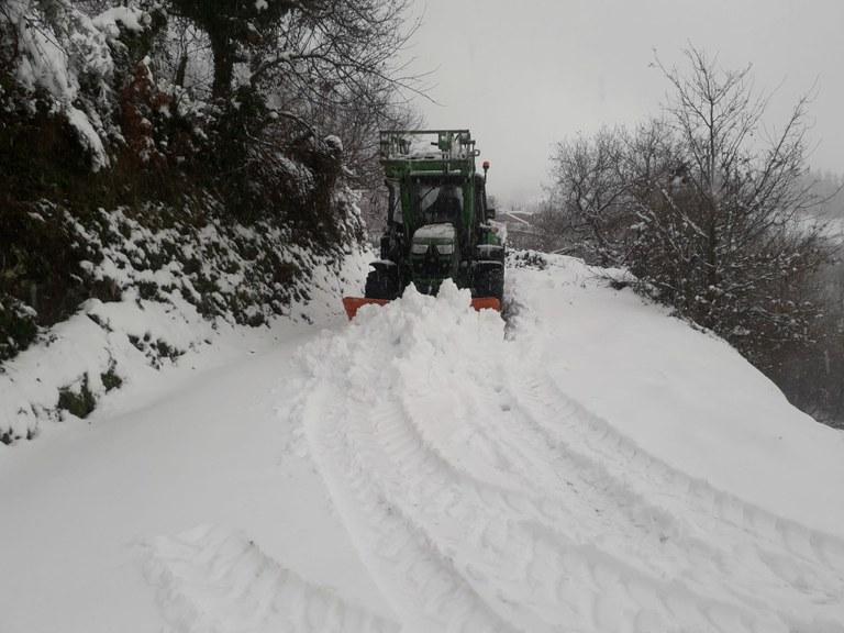 Trabajos de retirada de nieve