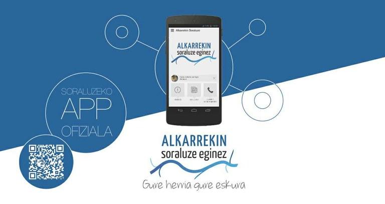"""""""Alkarrekin Soraluze"""" aplikazioa aurkeztu du udalak"""