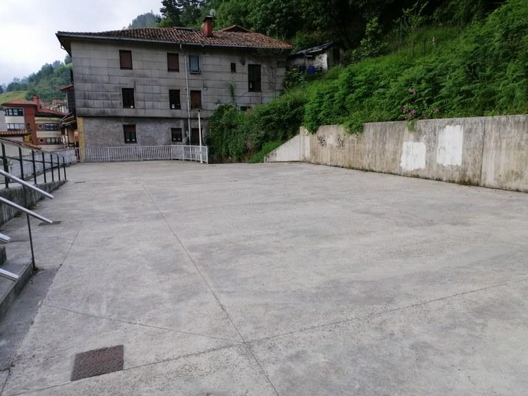 Skategunea eraikitzeko obren hasiera
