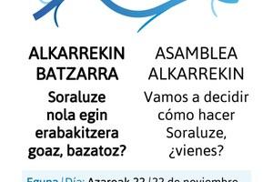 2015erako proiektuak eta ekimenak aurkeztu eta erabakiko dira zapatuko Batzar Orokorrean